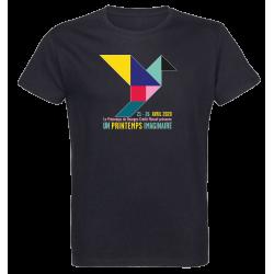 T-shirt noir Affiche Printemps de Bourges 2020